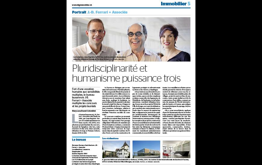 Tribune de Genève immobilier