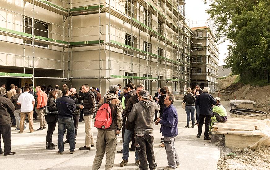 Ferrari architectes bouquet de chantier à morges en bonjean