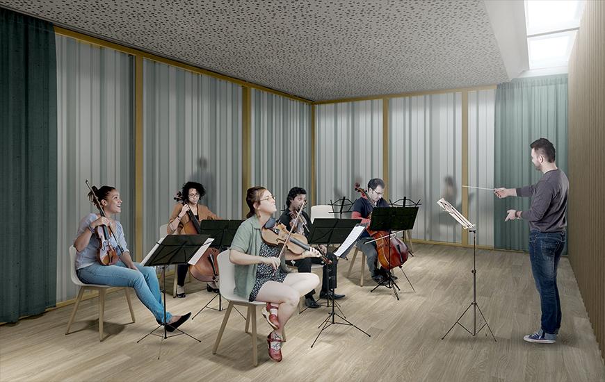 Ferrari architectes conservatoire de musique genève bureau d