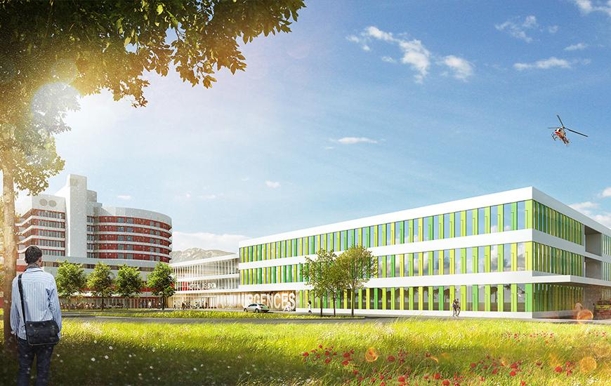 Ferrari architectes hôpital du valais bureau d architecture